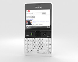 3D model of Nokia Asha 210 White