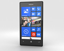 3D model of Nokia Lumia 520 Black