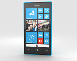 3D model of Nokia Lumia 520 Cyan