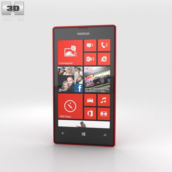 Nokia Lumia 520 Red 3d model