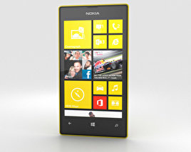 3D model of Nokia Lumia 520 Yellow