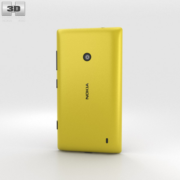 Nokia Lumia 520 Yellow 3d model