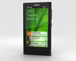 3D model of Nokia X Black