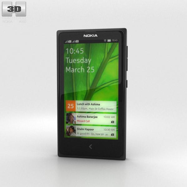 3D model of Nokia X Black