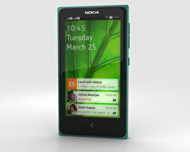 3D model of Nokia X Green