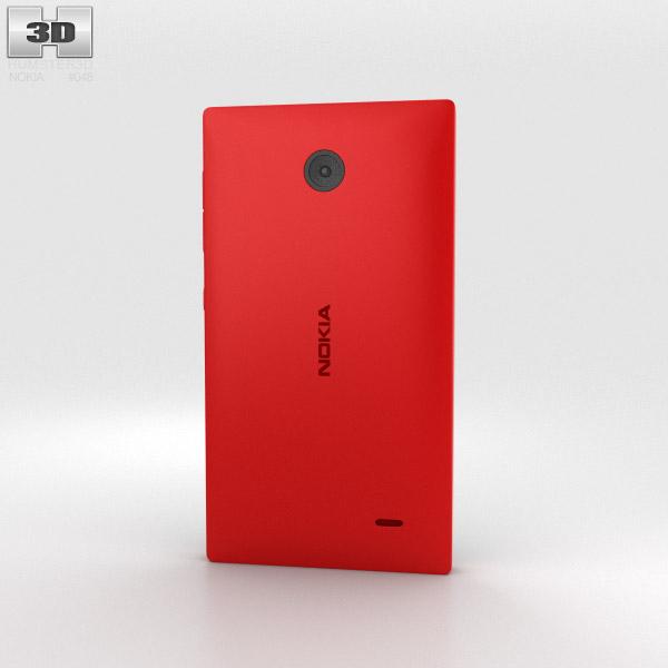 Nokia X Red 3d model