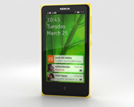 3D model of Nokia X Yellow