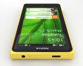 Nokia X Yellow 3d model