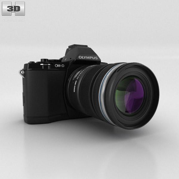 3D model of Olympus OM-D E-M5 Black