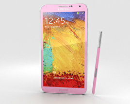 3D model of Samsung Galaxy Note 3 Pink