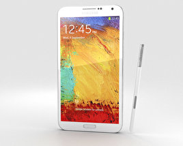 3D model of Samsung Galaxy Note 3 White