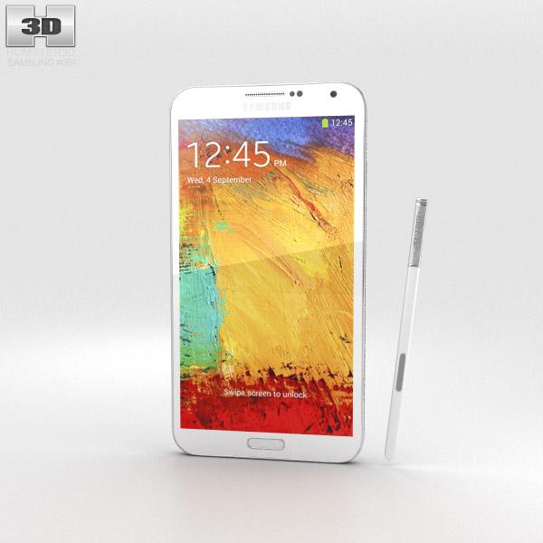 Samsung Galaxy Note 3 White 3d model