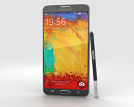 3D model of Samsung Galaxy Note 3 Neo Black