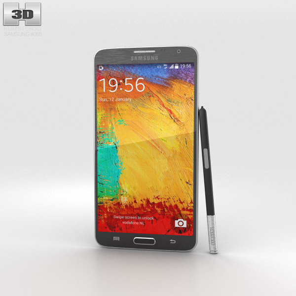 Samsung Galaxy Note 3 Neo Black 3d model