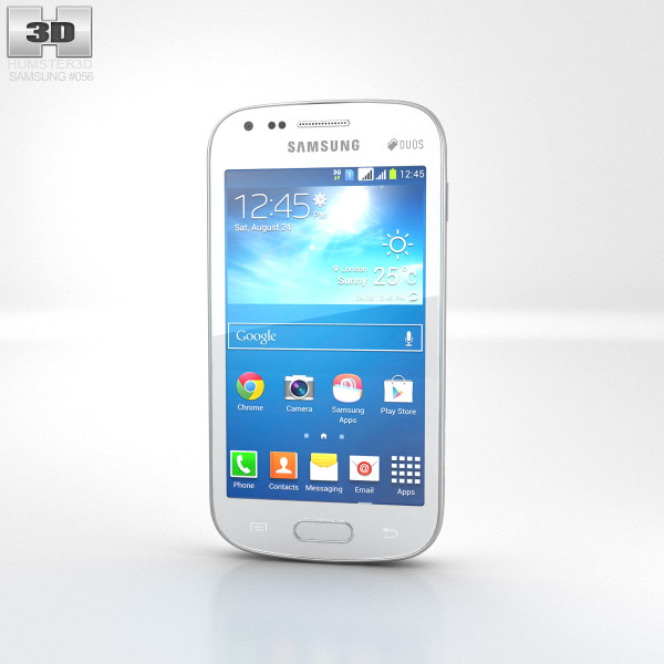 Samsung Galaxy S Duos 2 S7582 White 3d model