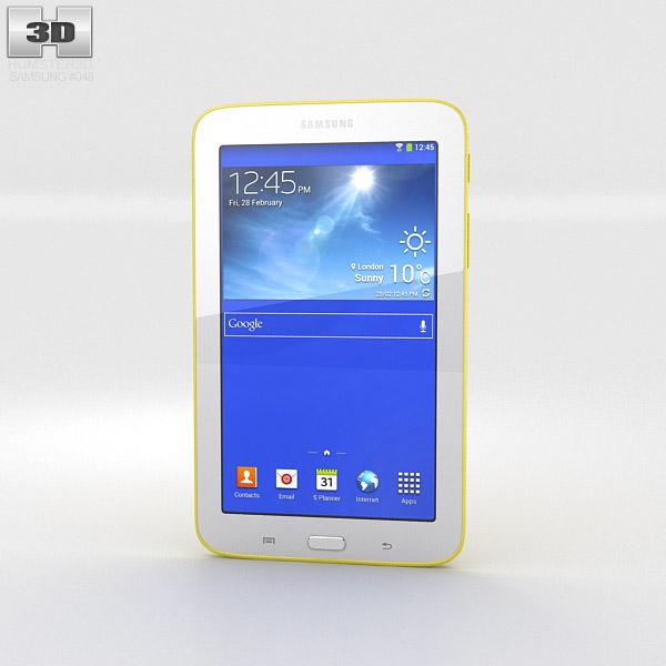 Samsung Galaxy Tab 3 Lite Yellow 3d model