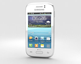 Samsung Galaxy Young White 3D model