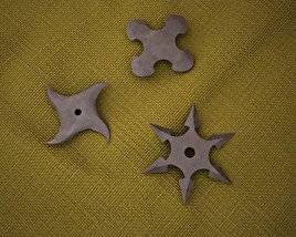 3D model of Shurikens