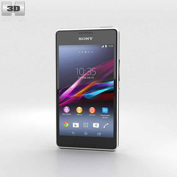 Sony Xperia E1 White 3d model