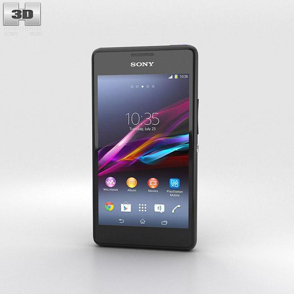 Sony Xperia E1 Black 3d model