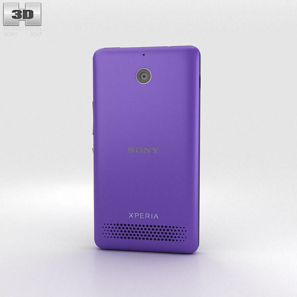 Sony Xperia E1 Purple 3d model