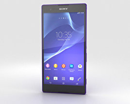 3D model of Sony Xperia T2 Ultra Purple