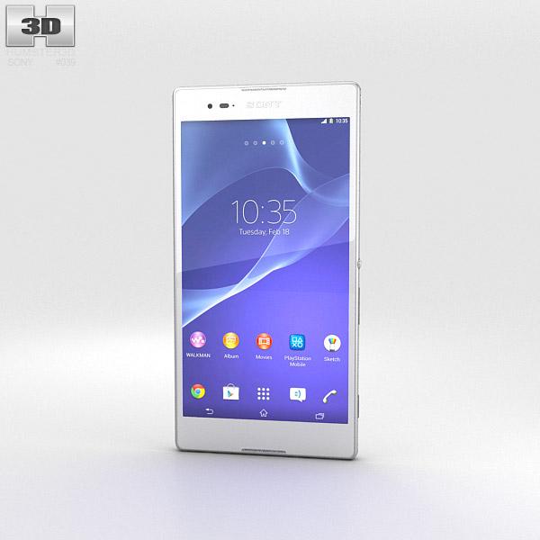Sony Xperia T2 Ultra White 3d model