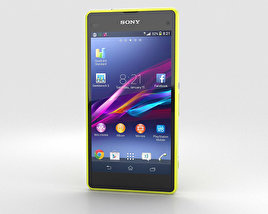 3D model of Sony Xperia Z1 Compact Yellow