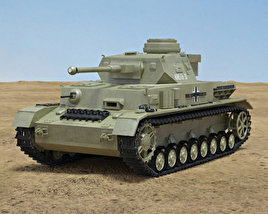 3D model of Panzer IV