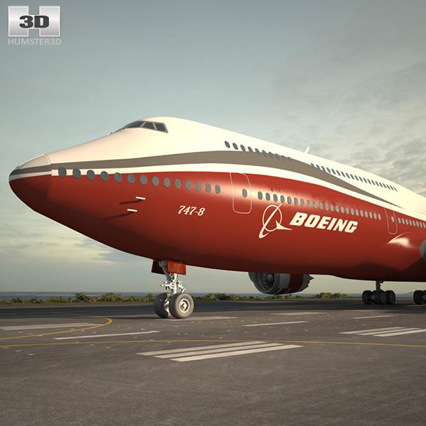 Boeing 747-8I 3D model