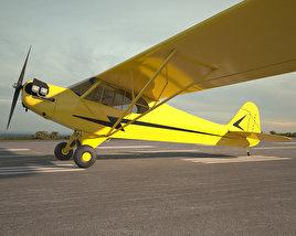 3D model of Piper J-3 Cub