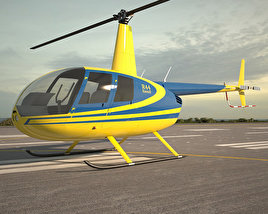 3D model of Robinson R44 Raven
