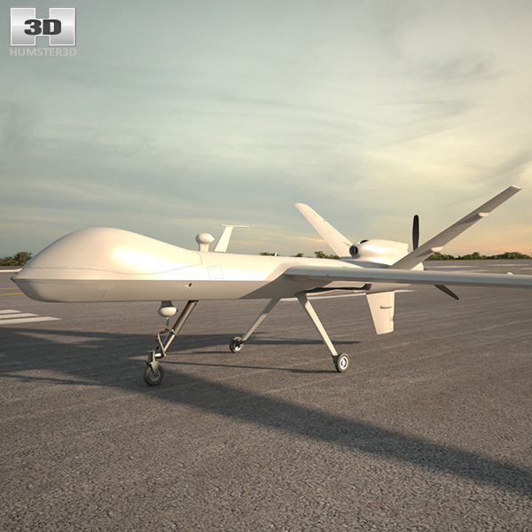 3D model of General Atomics MQ-9 Reaper