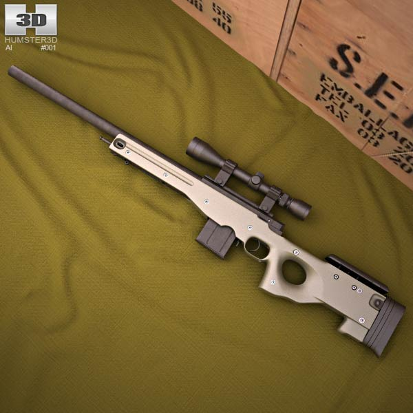 3D model of Accuracy International Arctic Warfare (L96A1)