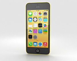 3D model of Apple iPhone 5C Yellow