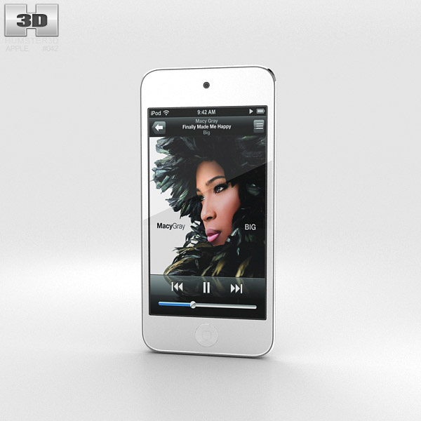 3D model of Apple iPod Touch Silver