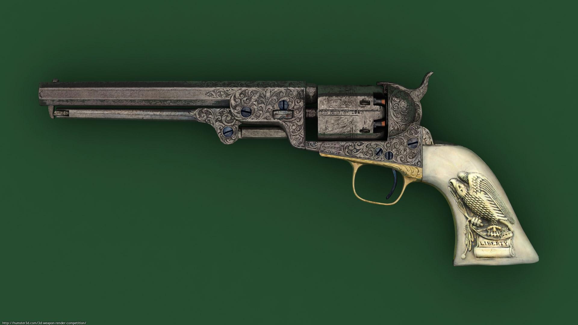 Colt Navy 1851 3d art