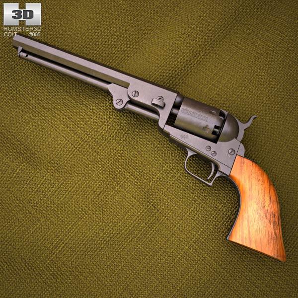 3D model of Colt 1851 Navy Revolver