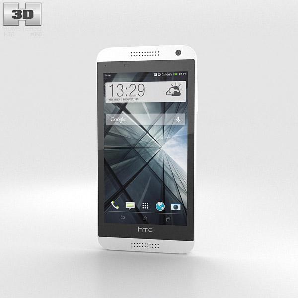 HTC Desire 610 White 3d model