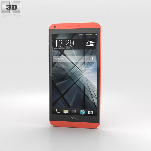 HTC Desire 816 Red 3d model