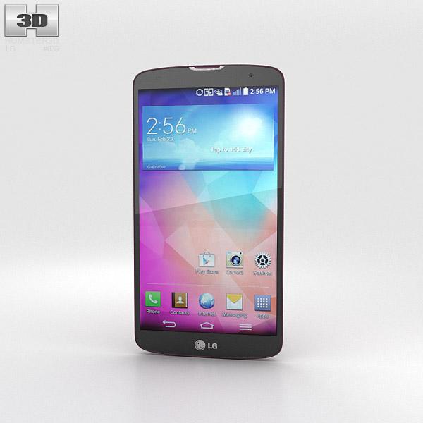 3D model of LG G Pro 2 Red