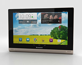 3D model of Lenovo Yoga Tablet 10 HD+ Champagne Gold