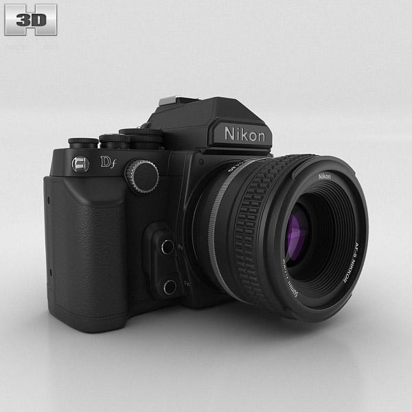 Nikon DF Black 3D model