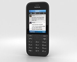 3D model of Nokia 220 Black