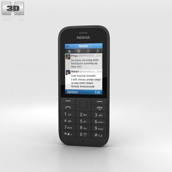 3D model of Nokia 220 Black