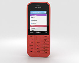3D model of Nokia 220 Red