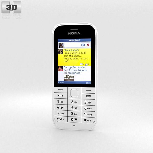 3D model of Nokia 220 White