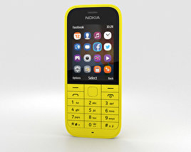 3D model of Nokia 220 Yellow