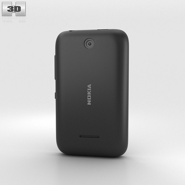 Nokia Asha 230 Black 3d model