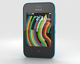 3D model of Nokia Asha 230 Cyan